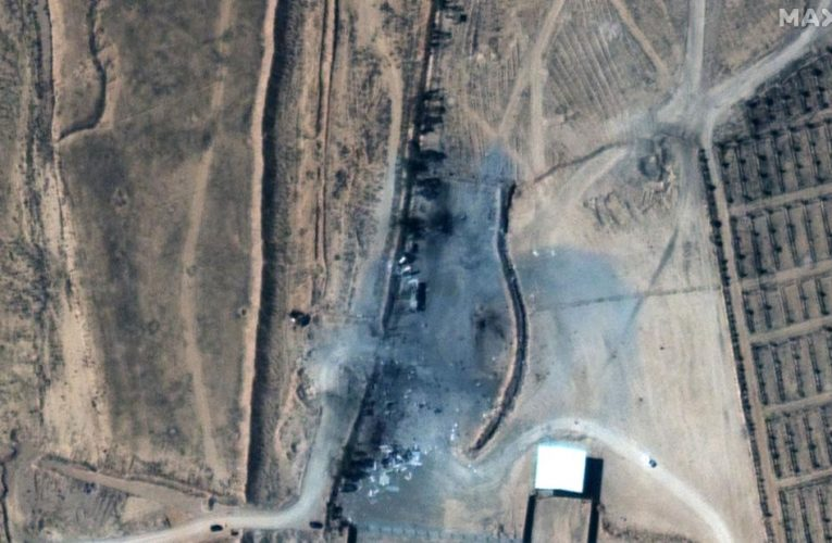 Satellite images reveal extent of damage caused by Biden administration's first military action